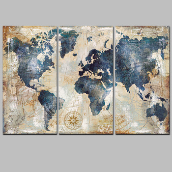 3panel world map painting hd print on canvas landscape modular wall 3panel world map painting hd print on canvas landscape modular wall painting art picture gumiabroncs Images