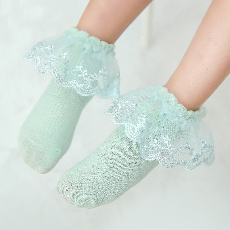Baby Girls Fashion Princess Lace Mesh Cotton Socks For Kids