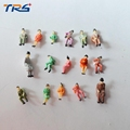50PCS HO scale 1 87 all seated model railway people scale model sitting figures scenery model