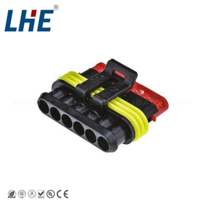 6 way Gas Accelerator Throttle Pedal male auto Connector