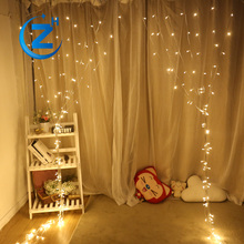 Twinkle waterproof indoor wedding party lighted decoration rgb cheap outdoor color changing fairy icicle led light black curtain