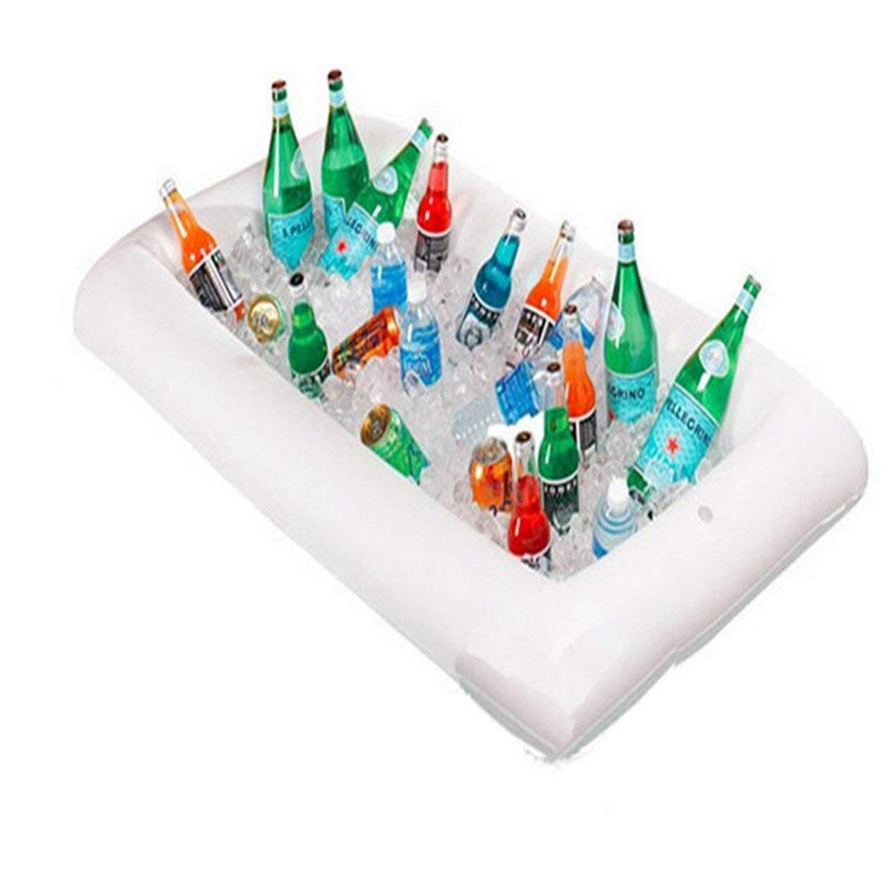 Laza Inflatable Buffet Salad Bar Serving Ice Tray Beverage Ice Cooler Food Drink Holder Server with Drain Plug for Party BBQ Picnic Camping (1-Pack)