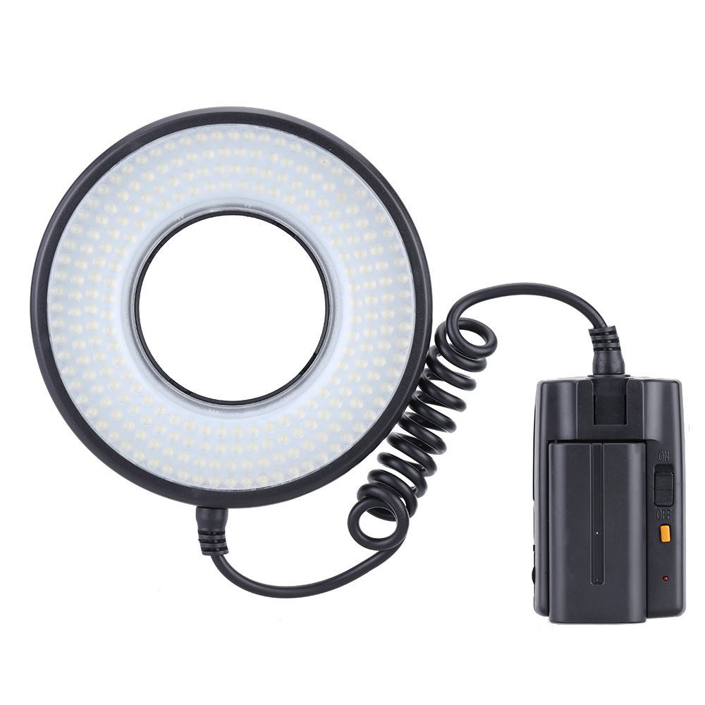 Perfect Choice Ring LED Video Light Kit 1400LM Color Temp 5800K Macro LED Dimmable Light for Canon Nikon Pentax Cameras US Plug