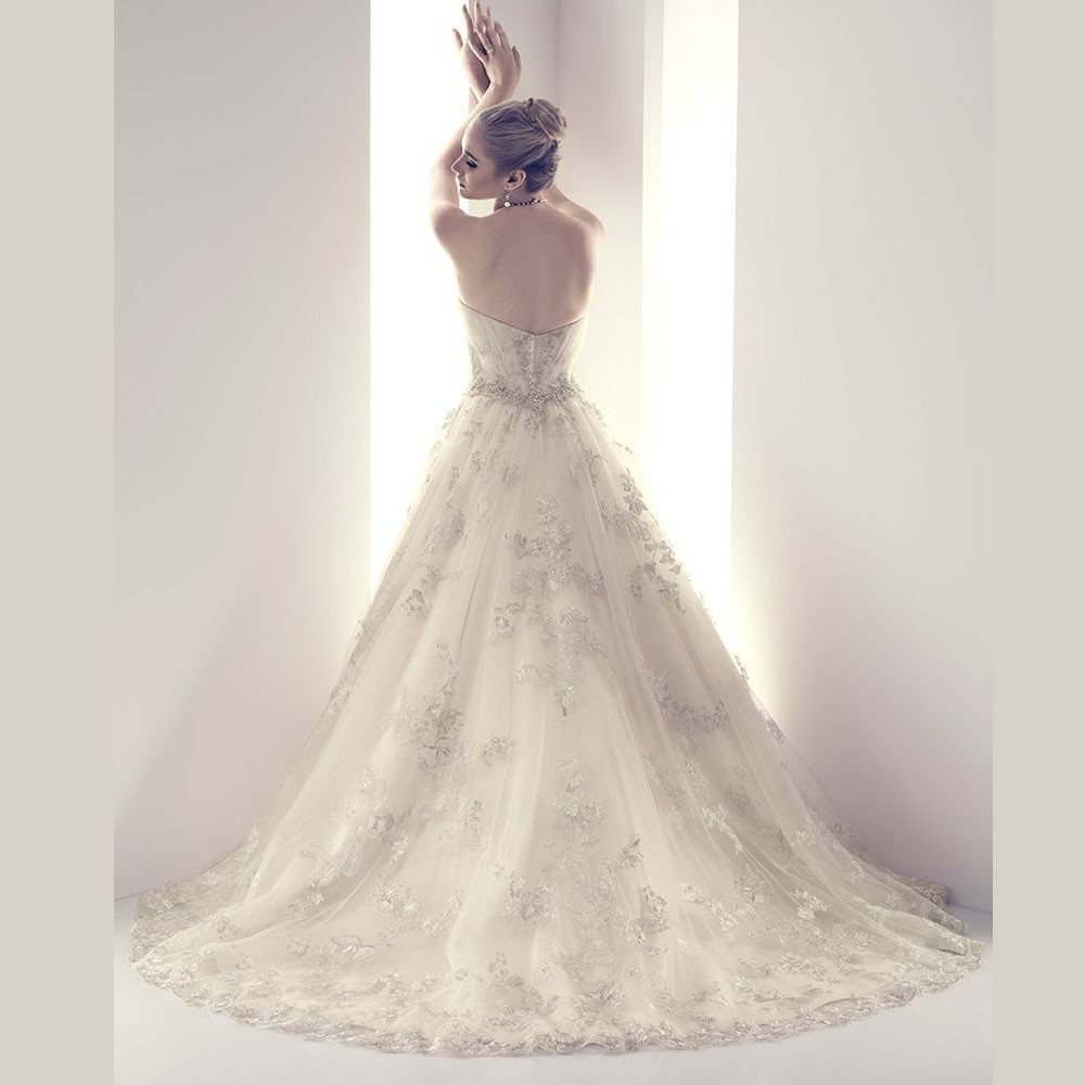 Real Romantic Ball Gown Ivory and Grey Applique Lace Wedding Dresses 2017 vestidos de noiva Puffy Bridal Gowns Custom Made BLW71 10
