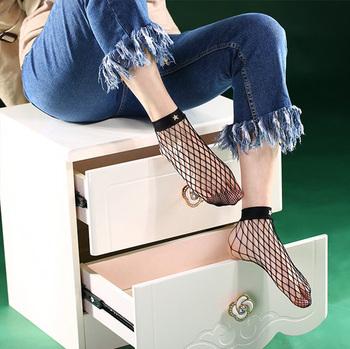 290c394c029ff Custom Black Ladies Sexy Oversized Fishnet Ankle Socks - Buy ...