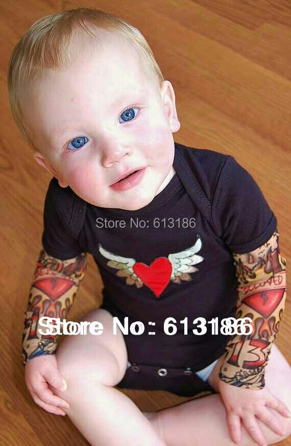 Free Shipping 2 PCS 2015 New High Quality 92 Nylon 8 Spandex Kids Children Fake Tattoo