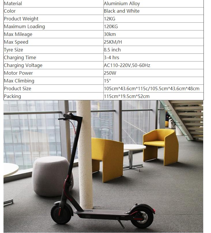 2017 vendita calda migliore originale xiaomi m365 mi scooter elettrico