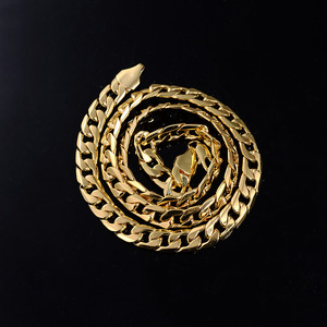10mm Men's Flat Side NK Necklace Gold Chain Necklace