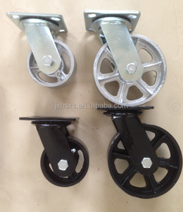 8 inch industrial black rubber swivel plate caster