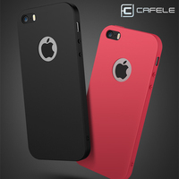 CAFELE Soft TPU Phone Cases Case Silicone Original Smooth Anti-Fingerprint Matte Phone Cover For Iphone 5S Cases