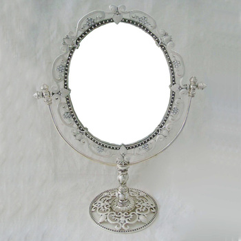 Decorative Table Top Mirrors.Lovely Design Antique Silver White Enamel Big Oval Table Top Mirror P07146lm Buy Silver White Decorative Mirrors Cosmetic Mirror Decorative Table