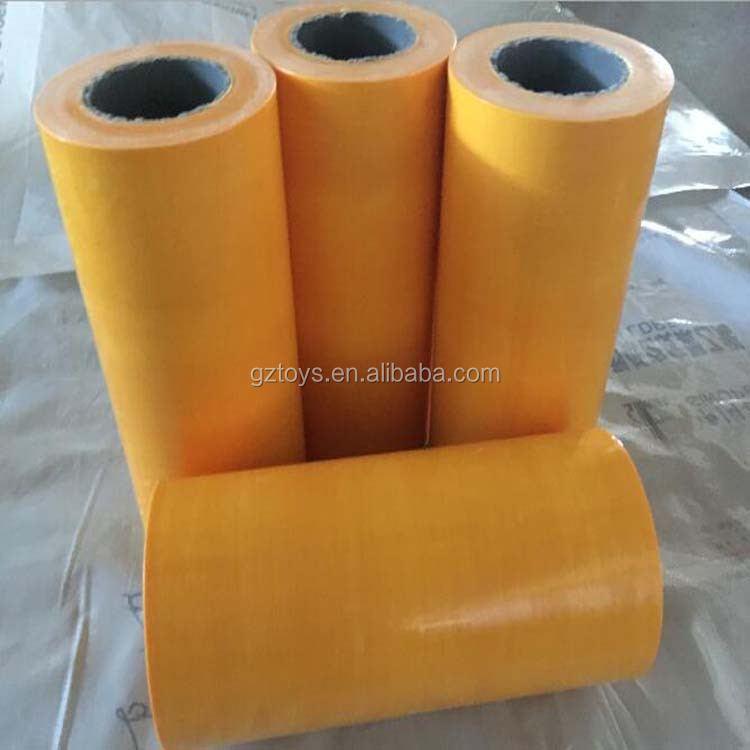 Factory price cheap yellow PVC/PE plastic Film/poncho film protective film for door,window