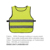 Factory price 120gsm 100% polyester fabric 5cm reflective safety warning vest