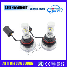 Latest 9004 White 3000LM 3S LED Headlights 30W Lamps X2 h1 h3 h7 h4 h11 h11 h13 9005 9006
