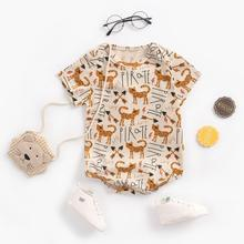 New Animal Summer Cotton Newborn Baby Jumpsuit Playsuit Rompers Infant Girls 0-24M Summer Short Sleeve Clothing