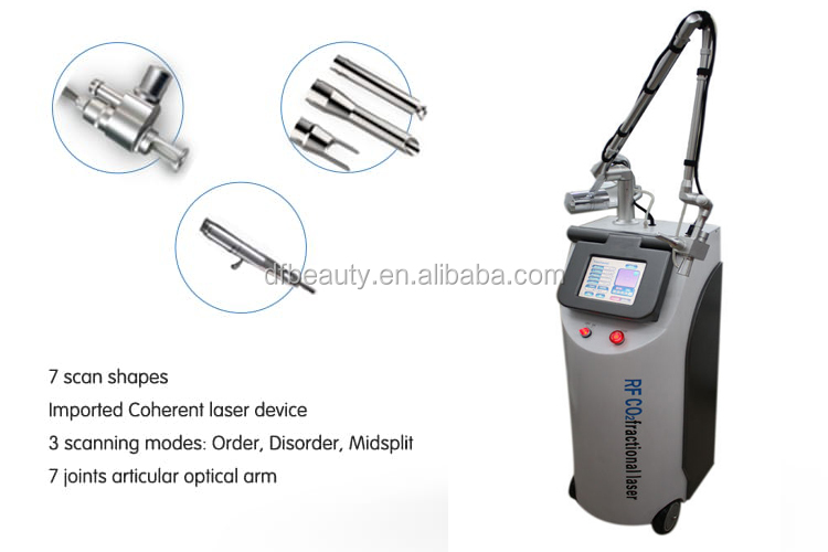DFLASER 2019 New Arrival Stretch Mark Removal Excited Rf Co2 Laser Handpiece Fractional