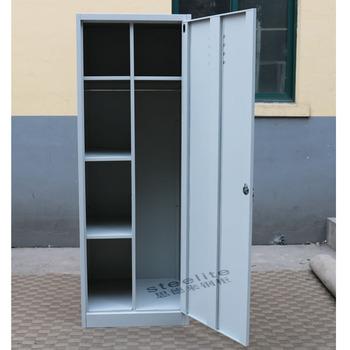 American Style Boys Locker Room Bedroom Furniture Metal Single Door Steel For Hanging Clothes