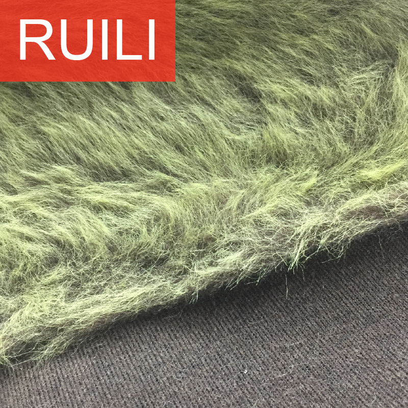 grass faux fur fabric