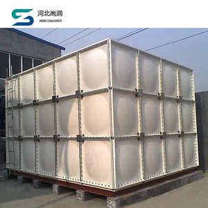 ISO Standard 40m3 grp smc water tank for industry water saving
