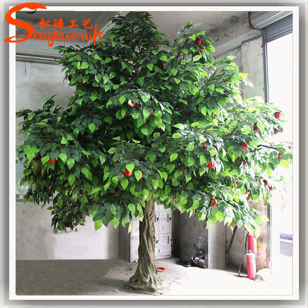 Factory wholesale artificial fruit trees artificial apple for Fruit trees for sale