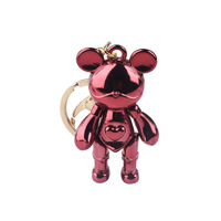 2019 Wholesale cartoon metal gloomy bear keychain mix design for bag charm
