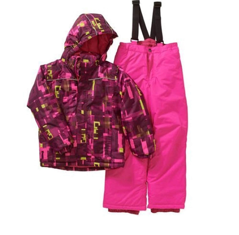 Icburg Iceburg Girls' Insulated Snow Day Jacket and Bib Suit Set Size 4-5