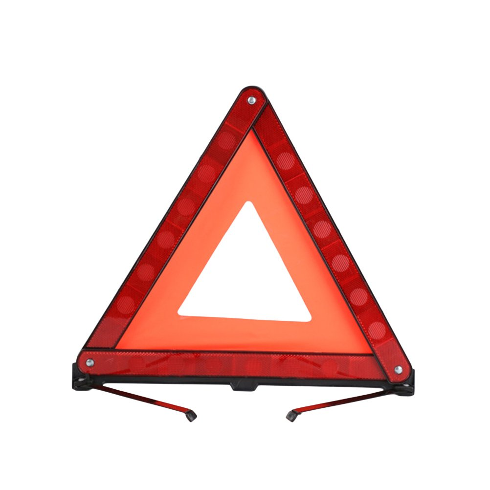 WINOMO 3 Pcs Road Safety Warning Sign Roadside Hazard Triangle Symbol Warning Sign Emergency Warning Road Safety Triangle Kit