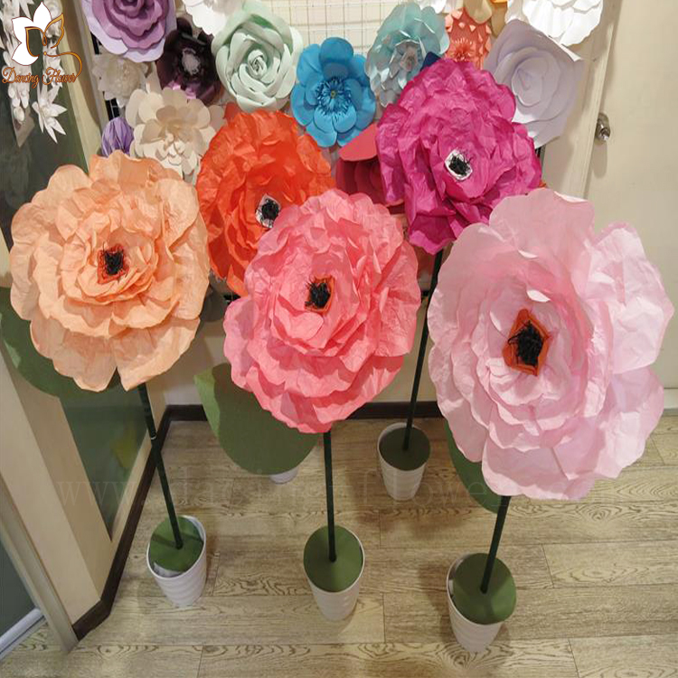 Artificial Make Tissue Crepe Paper Birthday Bouquet Flowers For Sale ...