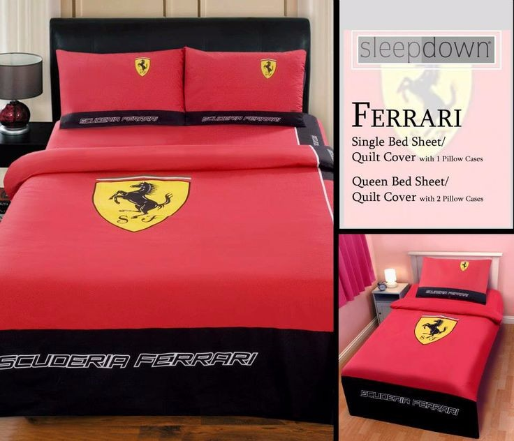 Ferrari Bedding Set Cotton Textile Fabric Bedsheets