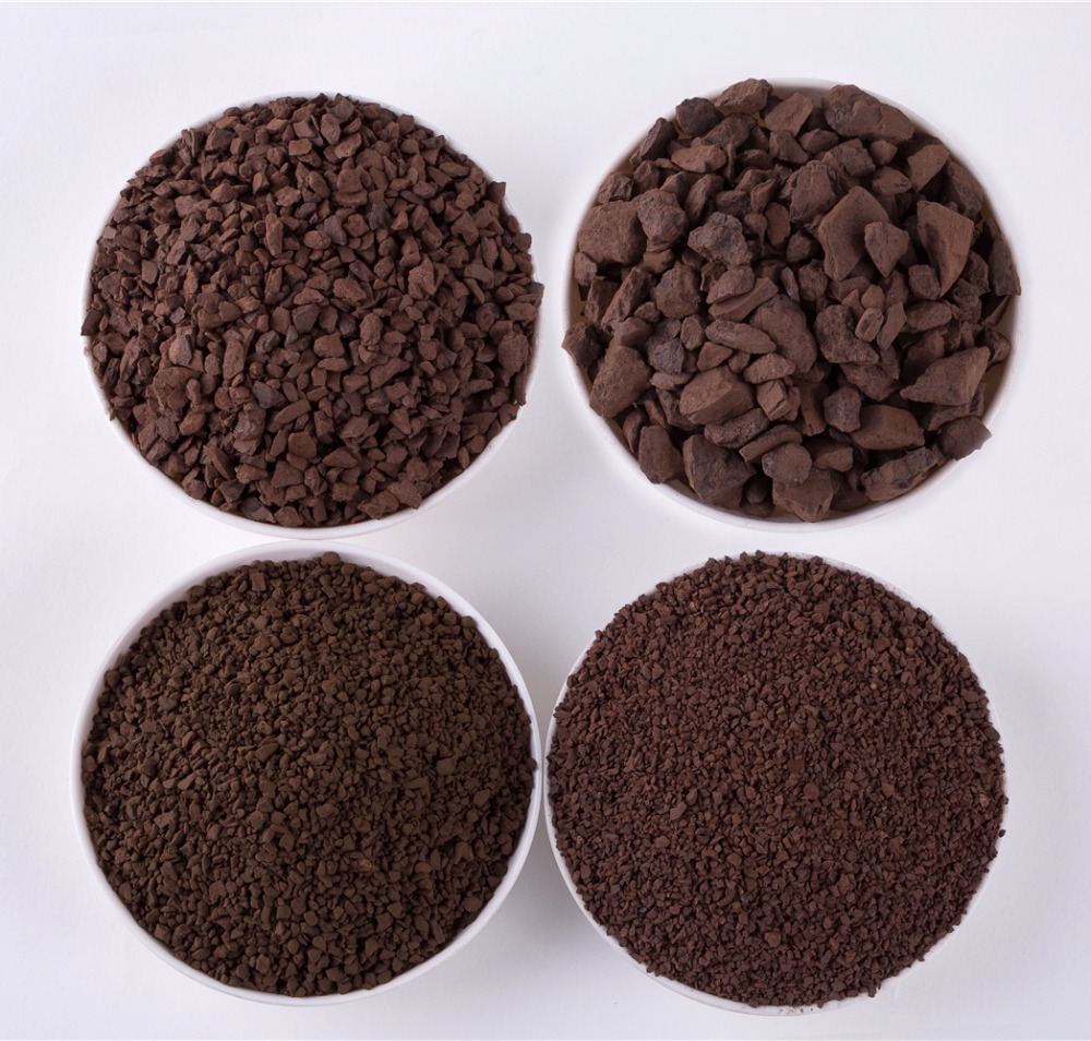 Factory Mno2 35% Manganese Sand Remove Iron And Iron And Manganese For Waste Water