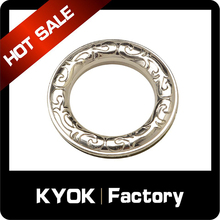 KYOK Fancy Bathroom Shower Rod Curtain Ring,Hooks Hangers Double Glide Shaped Curtain Ring,ABS curtain rings eyelets