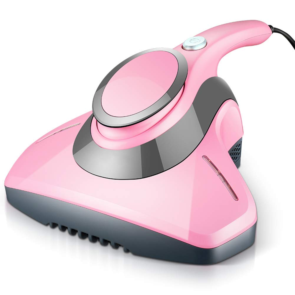 OR&DK Uv Vacuum Cleaner Anti-dust Mites, Eliminates Mites, Bed Bugs and allergens for mattresses, Pillows, Cloth Sofas, and Carpets-Pink