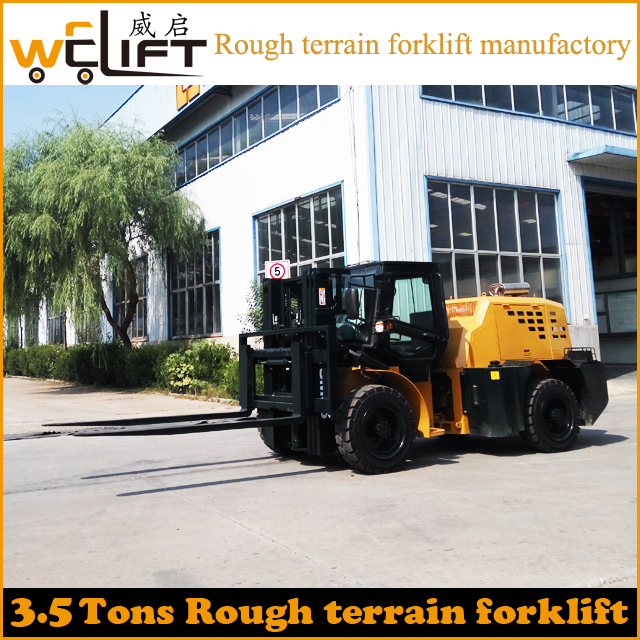 All terrain forklift 2017 new type 4x4 drive 3.5 tons forklift sale