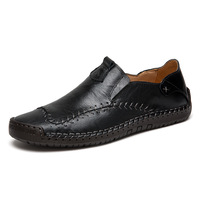 Hot sale slip-on genuine leather shoes big size handmade formal oxfoard dress shoes for men