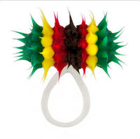 Rasta Flag Koosh Micro Vibrating Non-Piercing Tongue Ring 316l Stainless steel Barbell body piercing jewelry