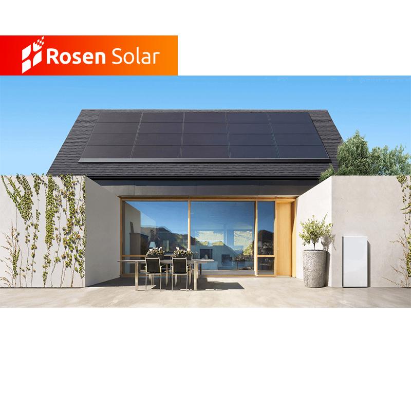 Rosen Ibrido Solare FOTOVOLTAICO Kit 10kw Sulla Griglia di Inverter Sistema con Batteria di Stoccaggio