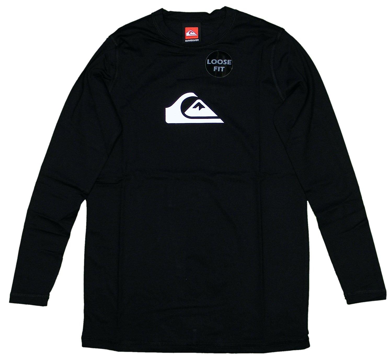 Quiksilver Big Boys' Solid Streak LS Surf Shirt - Black