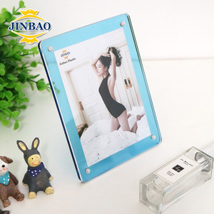 JINBAO Acrylic magnetic sigh holder,custom made coin acrylic frame,block free sexy photo frame