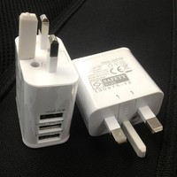 UK Plug 3 USB 3.0A AC Wall Charger Power Adapter For iPhone iPad Samsung Smart Phone Tablet USE