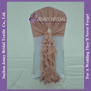 c304a2 dusty pink ruffles chiffon cheap chair covers