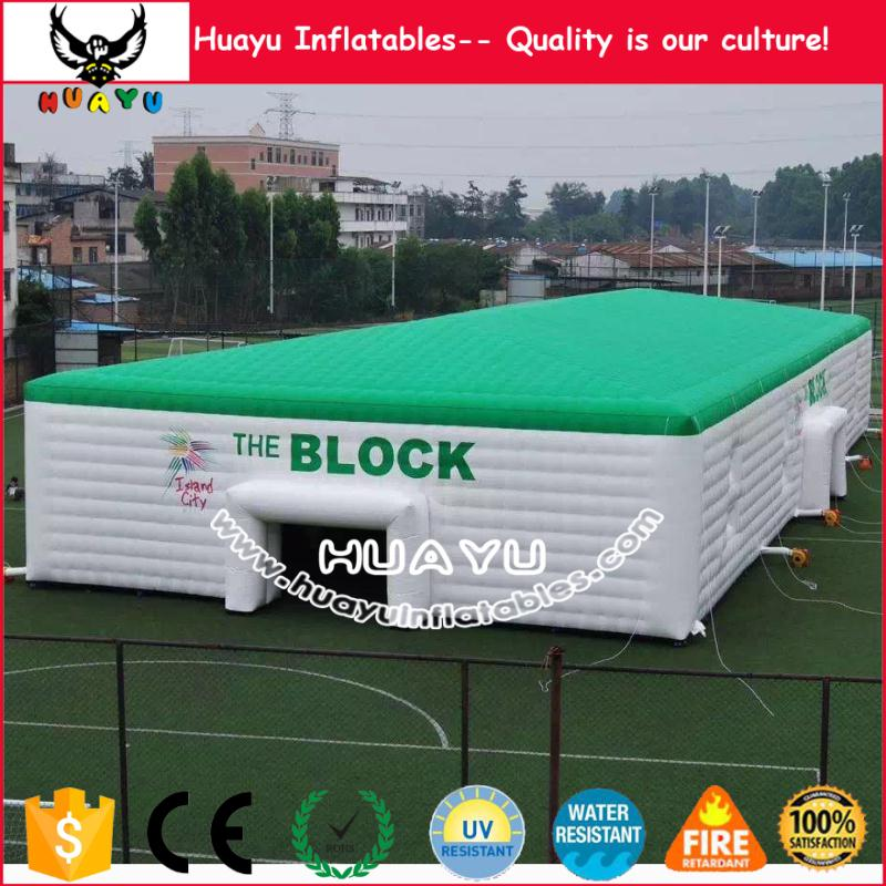 Giant customized inflatable cube tent, inflatable marquee tent for events and party