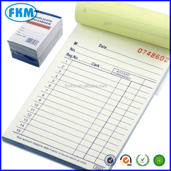 Custom Carbonless Color Towing Road Service Accident Invoice Form - Custom carbonless invoice book