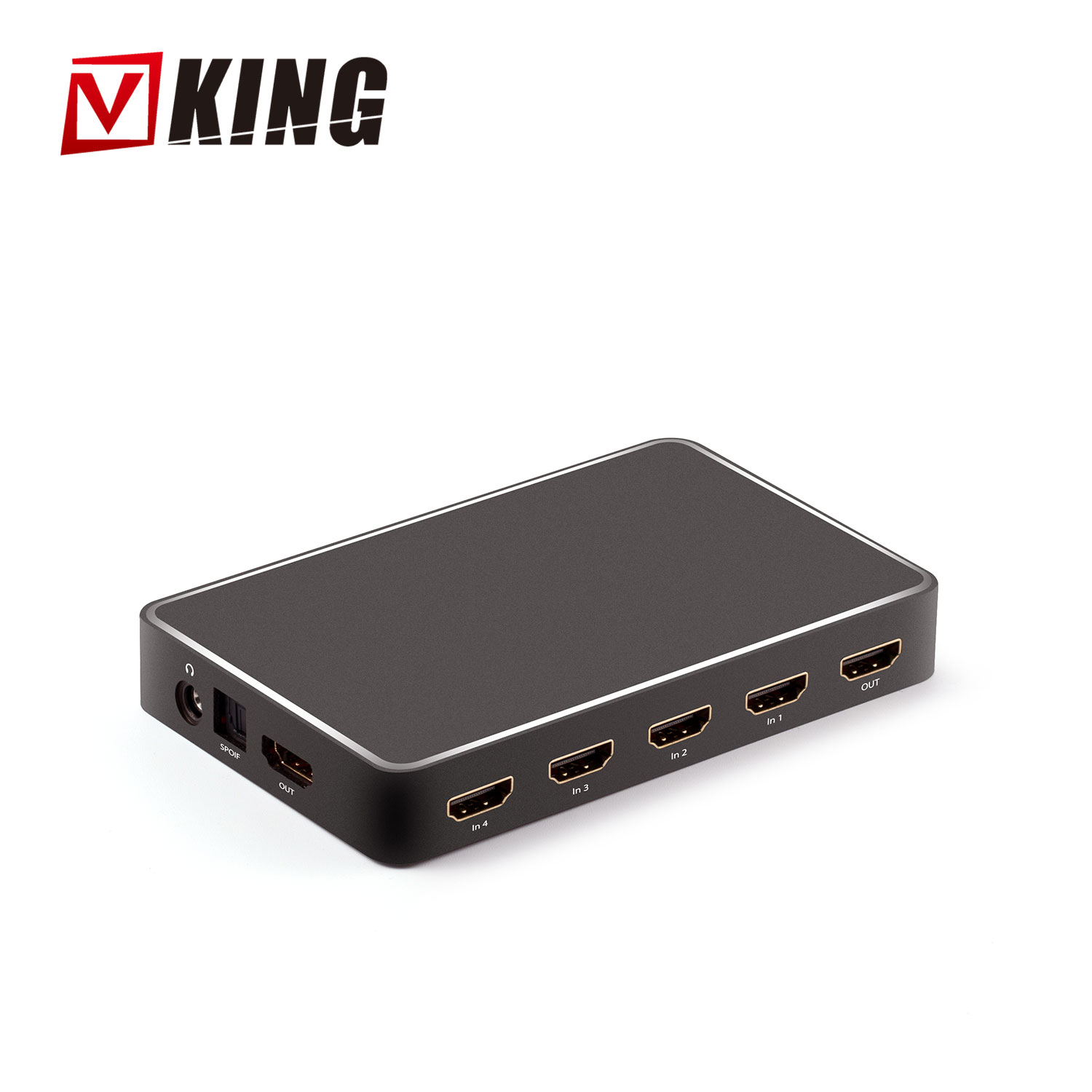 High Performance 4k 1080p 6 Port Hdmi Switch + Audio Extractor Switch 6 In  1 Out 6 Ports Hdmi Switcher Box With Ir Remote Arc - Buy Hdmi Switch With