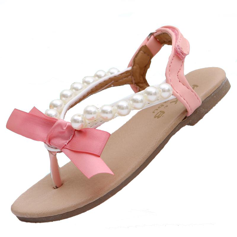 6dae8fd9d Girls Sandals Gail Jonson Kids Roman Sandals Girls Summer Gladiator Shoes  Children Flock Beach Sandals for Girls Princess ...