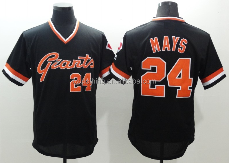 San Francisco Giants Willie Mays Black Pullover Flex Base Jersey