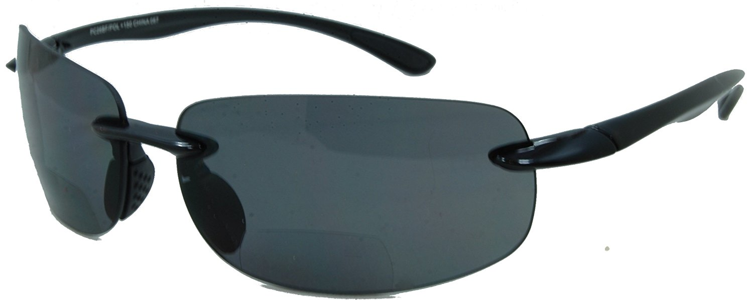 87df6378975 In Style Eyes Lovin Maui Wrap Polarized Nearly Invisible Line Bifocal  Sunglasses