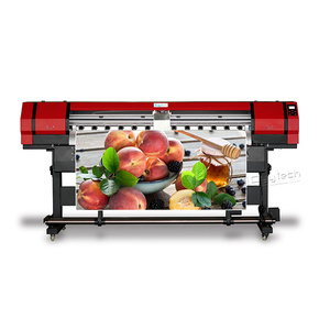 Digital eco solvent inkjet printer with xp600 head for sale in stock