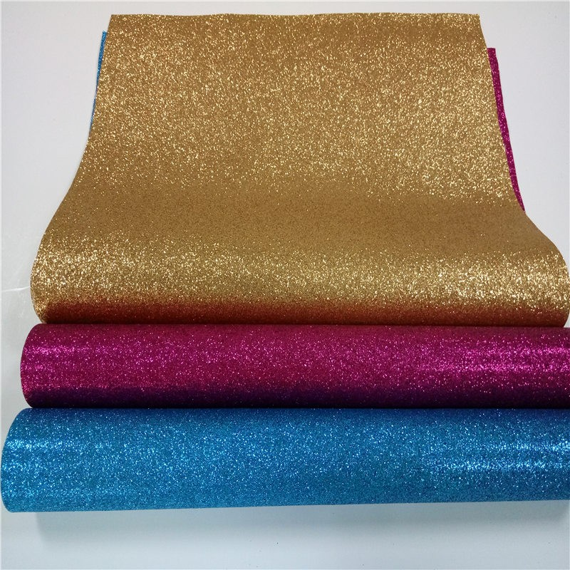 20x30cm Diy High Quality Glitter Leather Synthetic Leather