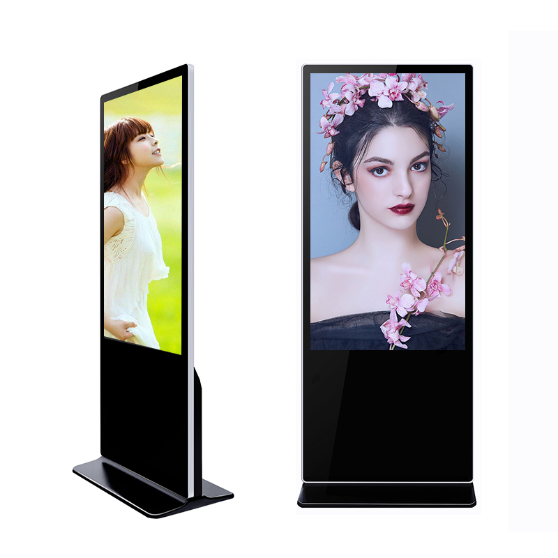 Advertising Marketing Equipment Vertical Display 55 inch Touch Screen Kiosk
