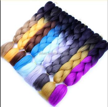 Xuchang Hair Factory 3 Tones Braiding Hair Synthetic Ombre Braiding